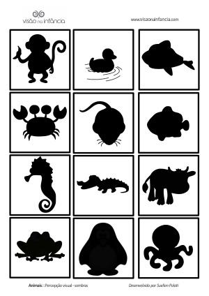 placa bichos – percepção de sombras