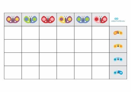 matriz lógica borboletas