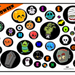 Jogo infantil para download com figuras temáticas de Halloween