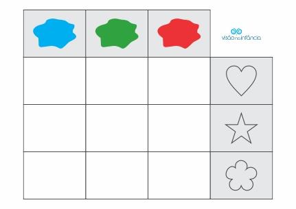 matriz lógica cores e formas