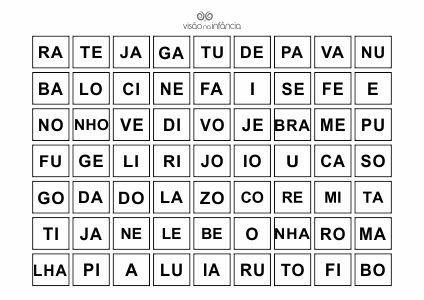 pareamento de sílabas