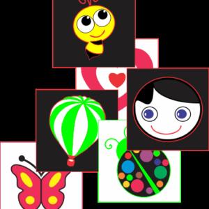 figuras em contraste para estimulação visual