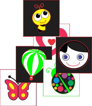 figuras em contraste – contorno com o olhar