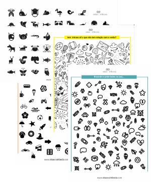 procure e ache! figuras preto e branco