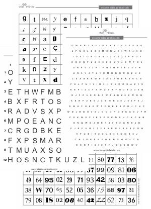 procure e ache! letras e números