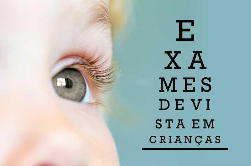 exames de vista em crianças