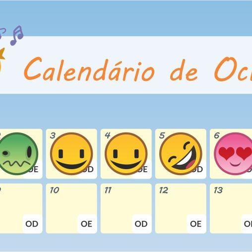 calendário de oclusão - tampão ocular