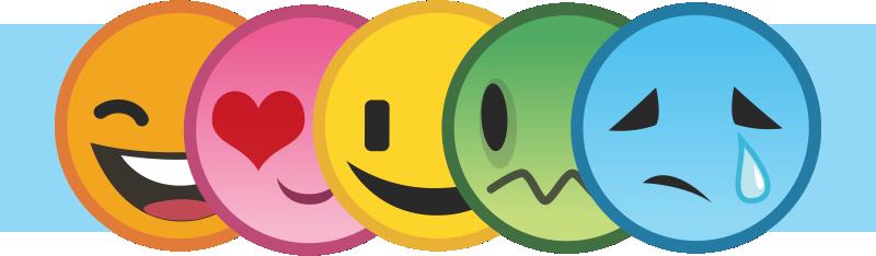 carinhas tipo emoji alinhadas