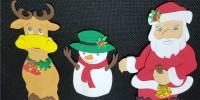 Dedoches em EVA de Natal