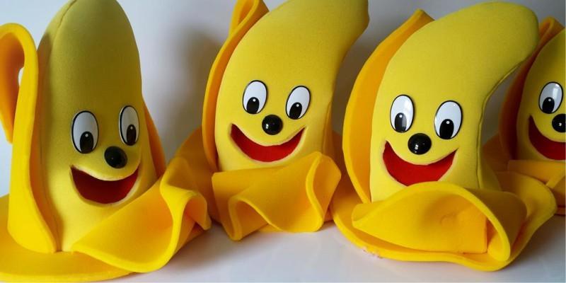 Fantoche de espuma em formato de banana
