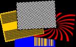 placas de contrastes para estimulação da fixação visual