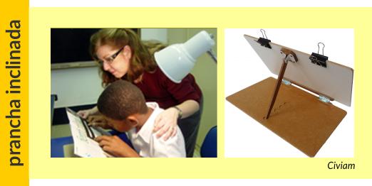posição de leitura para aluno com baixa visão