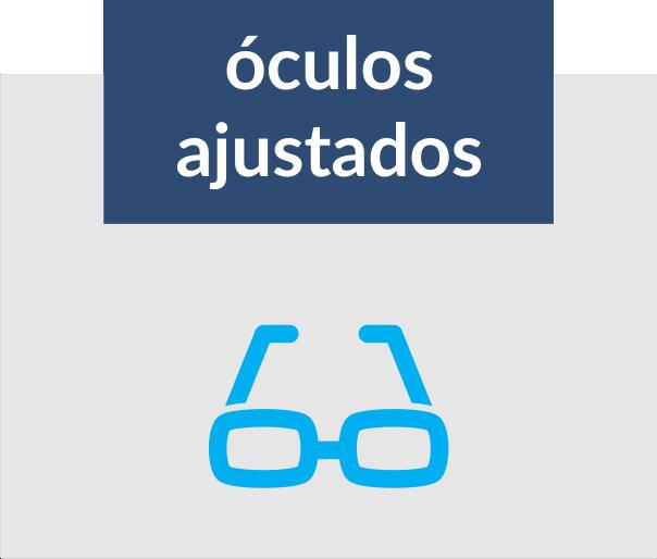 óculos ajustados
