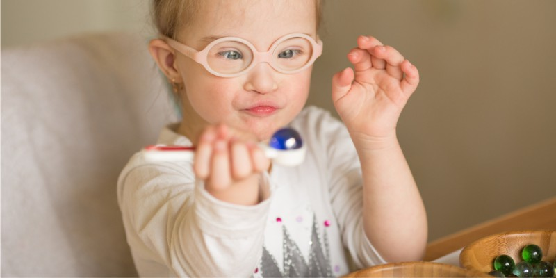 a visão da criança com síndrome de Down