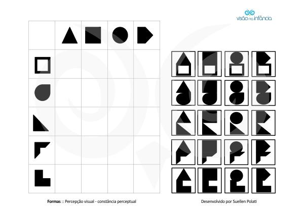 exemplo de placa de pareamento e justaposição - constância perceptual