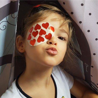 como decorar tampão de olho