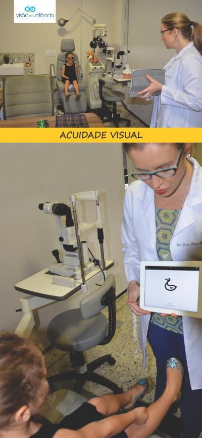 exame oftalmológico para avaliação visual em crianças